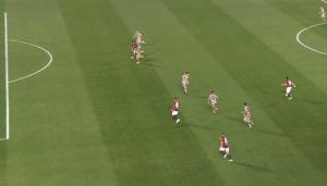 La posizione di Orsolini in occasione del gol dell'1-0